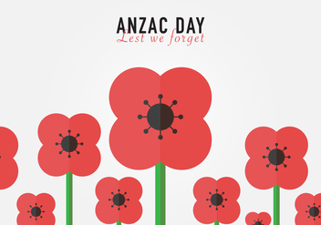 Lest We Forget Anzac Background Vector - Free vector #358619