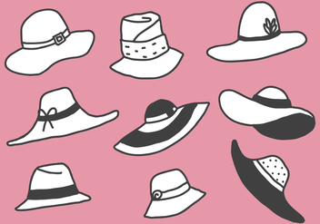 Free Style Illustration Hats Vectors - бесплатный vector #358669