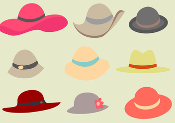 Free Ladies Hat Vector - бесплатный vector #358809