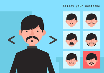 Vector Movember Mustache Options - vector gratuit #358869