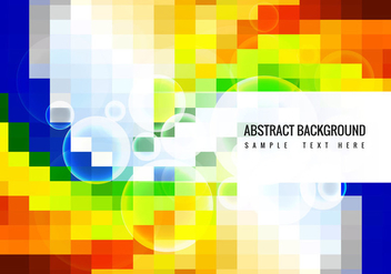 Free Colorful Mosaic Vector Background - Kostenloses vector #358899