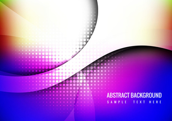 Free Colorful Wave Background Vector - бесплатный vector #358909