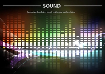 Sound Bars Background Colorful Vector - Free vector #358969