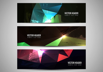 Free Vector Colorful Headers - бесплатный vector #358989
