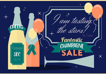 Free Various Modern Flat Champagne Vector Background - Kostenloses vector #359009