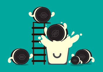 Free Oreo Vector Illustration #1 - Free vector #359049