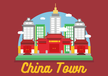 China Town Vector - vector #359239 gratis