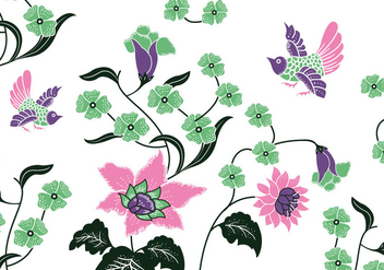 Batik Background Vector - vector #359259 gratis