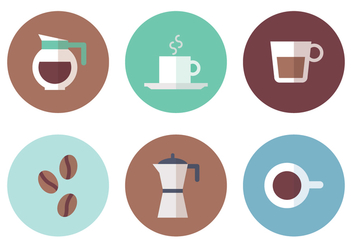 Coffee Element Vector Icons - vector gratuit #359379