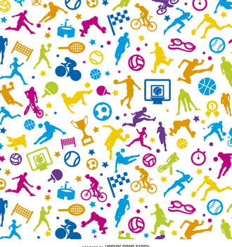 Tileable sport colorful wallpaper - Free vector #359419