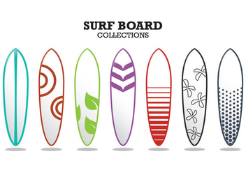 Surf Board Collections - бесплатный vector #359459