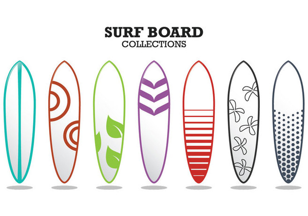 Surf Board Collections - vector gratuit #359459
