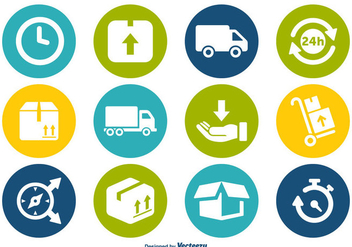 Delivery Icon Vector Set - бесплатный vector #359509