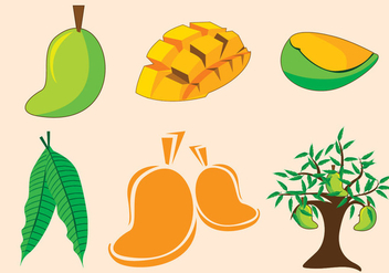 Mango Tree Vector - бесплатный vector #359529