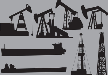 Oil Structres And Transports - Kostenloses vector #359579