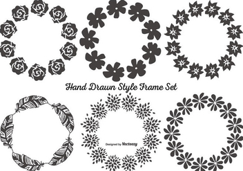 Cute Hand Drawn Frame Set - vector gratuit #359609