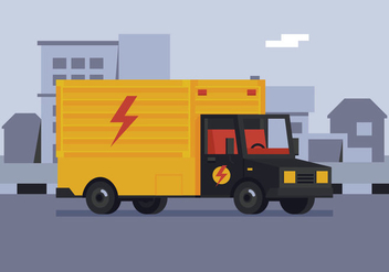 Vector Electric Department Truck - бесплатный vector #359629