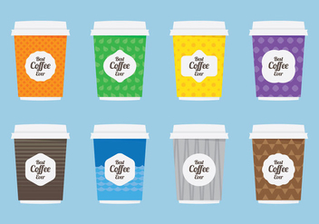 Coffee Sleeve Flat Icon - бесплатный vector #359659