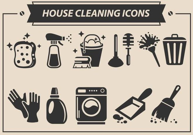 House Cleaning Vector Icons - vector gratuit #359739