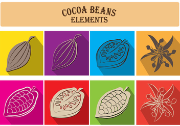 Cocoa Beans Elements - vector gratuit #359749