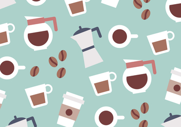 Coffee Colorful Pattern Vector - vector #359779 gratis
