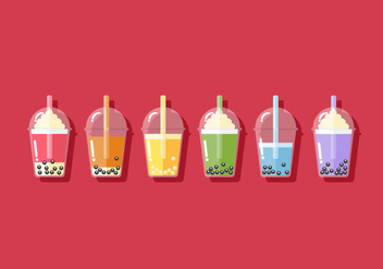 Vector Bubble Tea - Kostenloses vector #359789