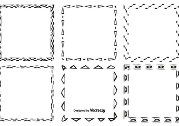 Hand Drawn Style Frame Set - Free vector #359799