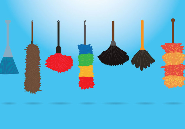 Feather Duster Vectors - Kostenloses vector #359809