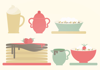 Vector Breakfast Illustration - vector gratuit #359829