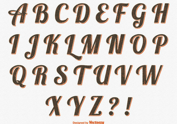 Retro Styel Alphabet Set - Free vector #359839