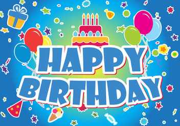 Happy Birthday Vector Set - vector gratuit #359849