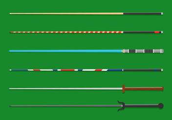 Vector Pool Sticks - vector #359889 gratis