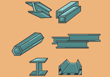Steel Beam Illustration Vector - Free vector #359899
