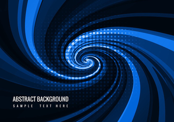 Free Blue Swirl Vector Background - Free vector #359909