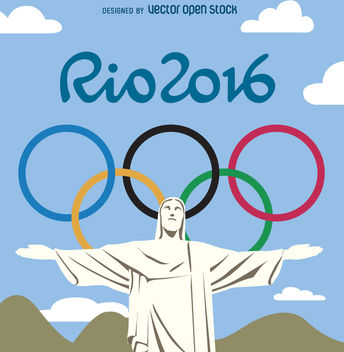 Rio 2016 olympic games - Redeemer Christ - Kostenloses vector #360059