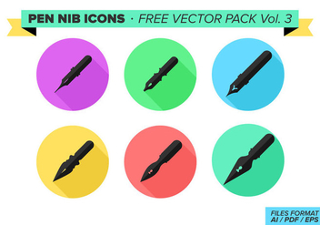 Pen Nib Icons Free Vector Pack Vol. 3 - vector #360109 gratis