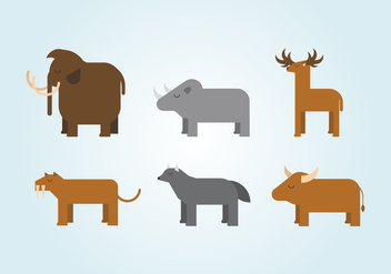 Vector Ice Age Animals - Free vector #360119