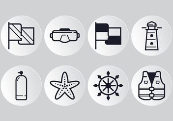 Nautical Line Icon - vector #360129 gratis