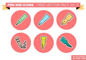 Pen Nib Icons Free Vector Pack Vol. 5 - Free vector #360179