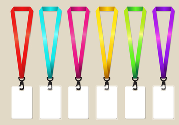 Rainbow Lanyard Vector Set - Kostenloses vector #360189