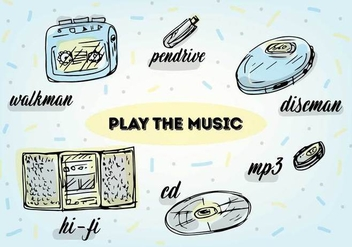 Free Music Play Vector Icons - Kostenloses vector #360199