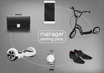 Free Manager Starter Pack Vector - бесплатный vector #360209