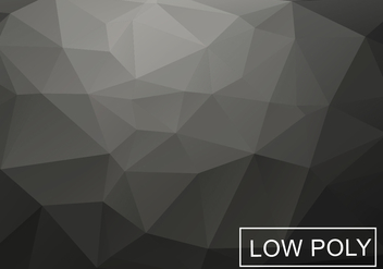 Gray Low Poly Background Vector - vector gratuit #360289