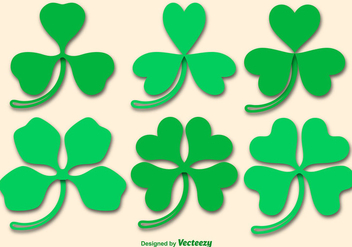 Clover Vector Icons - Free vector #360409