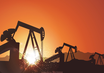 Free Oil Field Vector Background - Free vector #360509