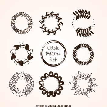 Circular ornament set - vector gratuit #360539