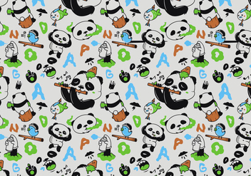 Vector Seamless Panda Pattern - Free vector #360589