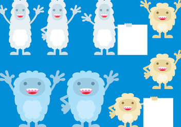 Cute Yeti Monsters - vector gratuit #360619