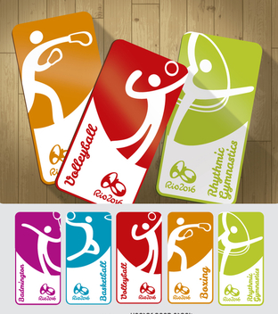 Olympic Games 2016 sport cards - Kostenloses vector #360739