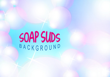 Soap Suds Bubbles Background Vector Illustration Free - Kostenloses vector #360799
